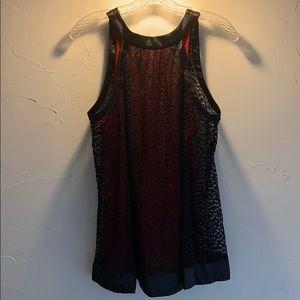 Sleeveless Black & Red Top